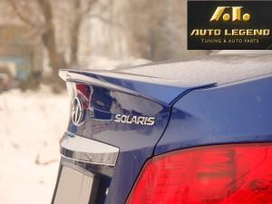 Лип спойлер на крышку багажника для Hyundai Solaris