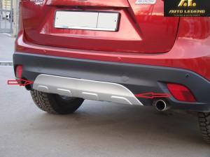 Накладка на задний бампер для Mazda CX-5